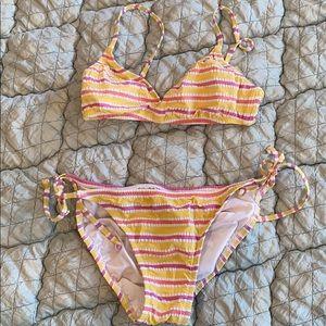 JCrew Striped Bikini